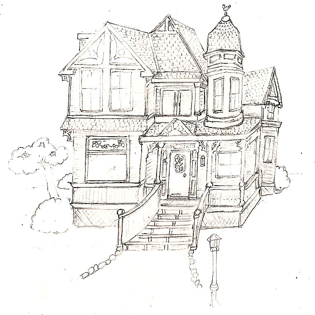 Old Victorian Houses Drawing Up house drawing